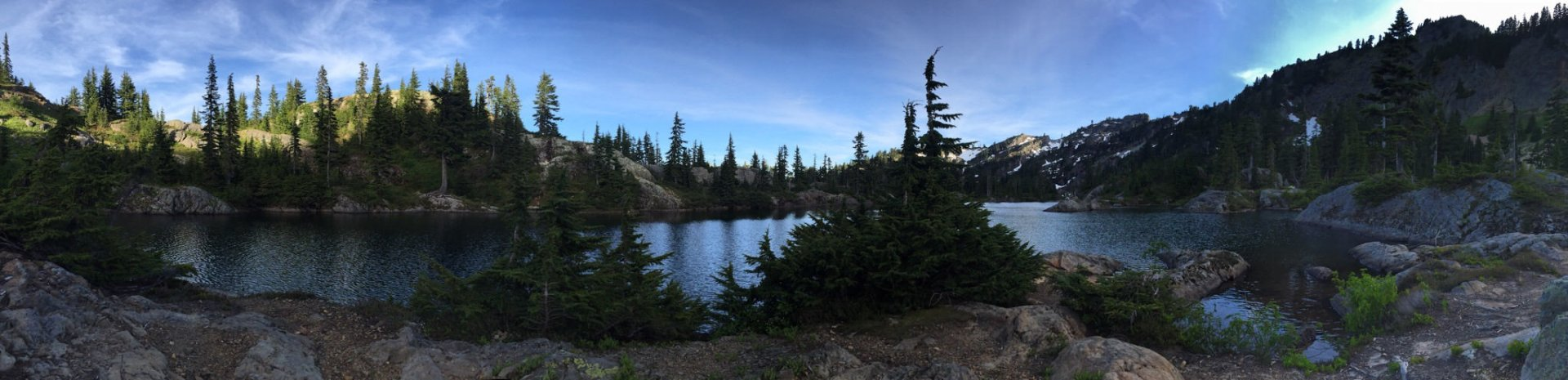 Sweet place to watch a sunset, sunrise, and stargaze from a hammock at Rampart Lakes.